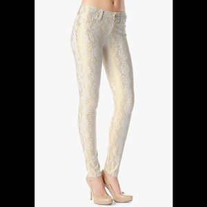 7 for all mankind Jacquard gold snake pants